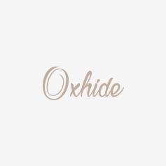 Oxhide Leather Bracelet Braided Brown with gun metal Hardware